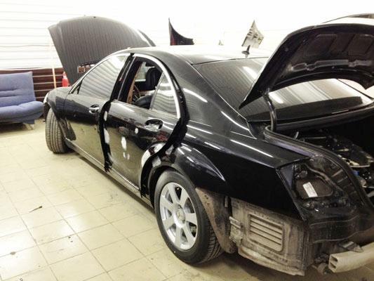 Фото процесса ремонта Mercedes