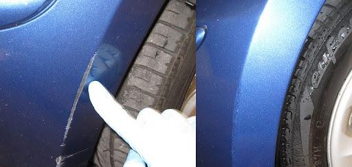 Фото удаление царапины с авто