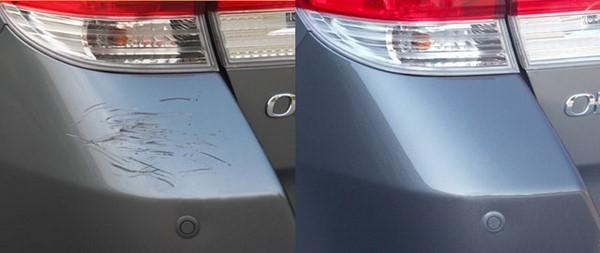 Фото удаление царапины с авто до-после