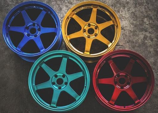 Фото покраски кованных дисков
