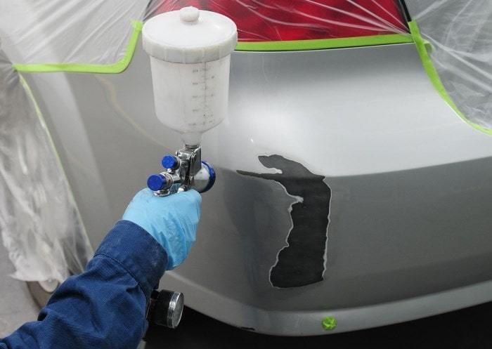 Фото покраски детали авто