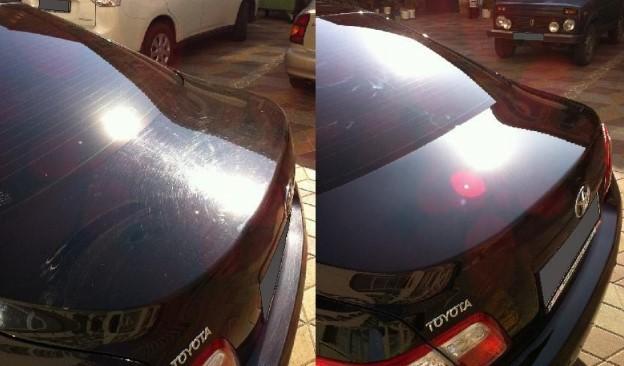 Фото авто до и после полировки