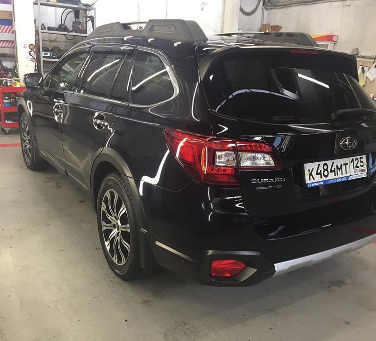 Subaru полировка и защитная керамика фото