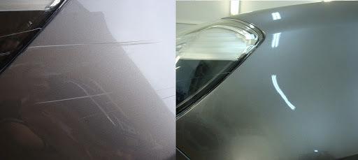 Фото удаление царапины с автомобиля